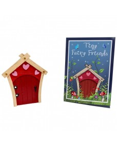 Tiny Fairy Friends - Red Door with Pink Hearts