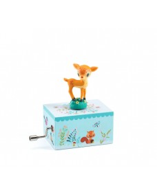 Wind up Music Box - Fawn in the Woods