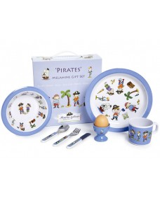 Pirates 7 Piece Children's Melamine Set