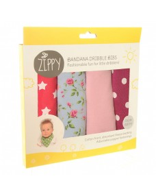 Bandana Dribble Bib 4 Pack- Pinks