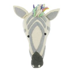 Pastel Safari Zebra Animal Head