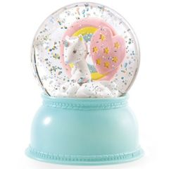 Djeco Glitter Globe Night Light - Unicorn