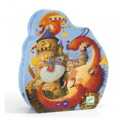 Vaillant and the Dragon Djeco Puzzle 54pcs