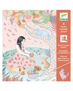 Djeco Pastel Scratch Cards - The Picnic