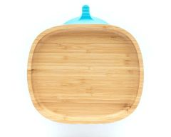 Eco Rascals Toddler Plate No Sections - Blue