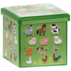 Farmyard Storage Box with Padded Seat