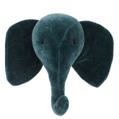 Mini Velvet Teal Animal Head