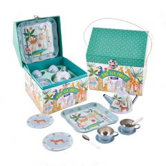 Tin Jungle Teaset in House Case