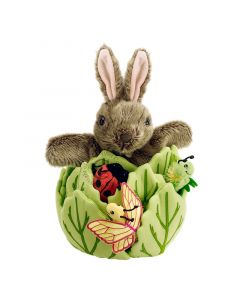 Rabbit in a Lettuce - with 3 Mini Beasts - Hide-Aways