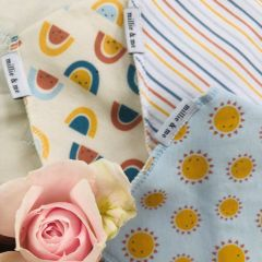 Triple Pack Bandana Bibs - Rise and Shine