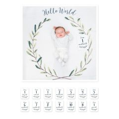 Baby's First Year™ blanket & card set - Hello World
