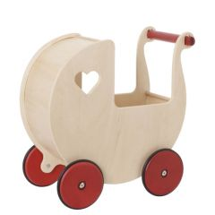 Moover Doll's Pram - Natural Birch Veneer