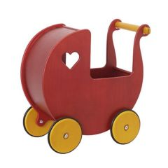 Moover Doll's Pram - Red Birch Veneer