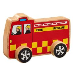 Chunky Wooden Wheely Fire Engine