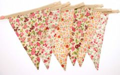 Single Piece Floral Bunting - 1 x Plain End
