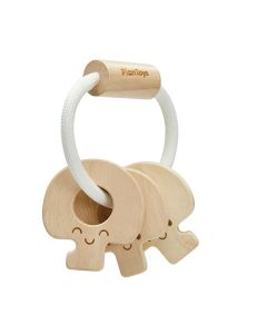 Plan Toys Baby Key Rattle Natural