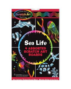 Sealife Scratch Art