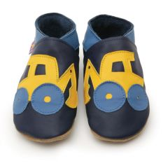 Digger Navy - Soft Leather Shoes 6-12mths