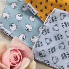 Triple Pack Bandana Bibs - Beary Good