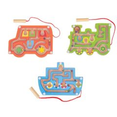 Wooden Magetic Labyrinth - Assorted Colours