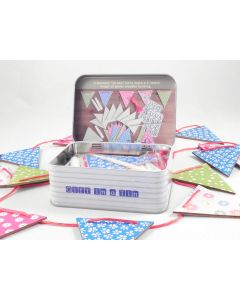 Make your own Wooden Bunting in a Tin