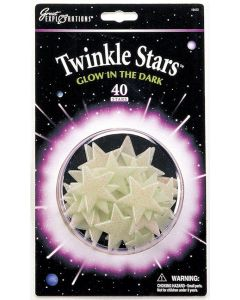 Glowing Twinkle Stars - 40 pack