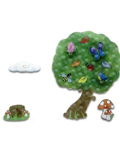 Irish Fairy Door 3-D Wall Art Tree