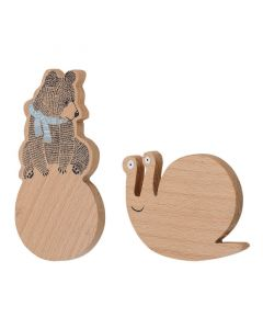 Nature Beech Wall Hooks - 2 Pack