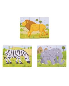 Safari 6 Piece Triple Puzzles