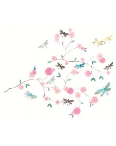 3D Wall Stickers Dragonflies Tree