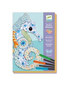 Djeco Felt Brushes - Motif Art