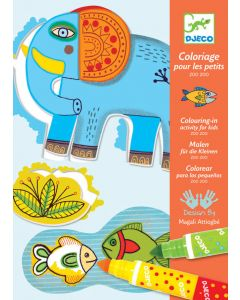 Djeco Colouring for Toddler - Zoo Zoo
