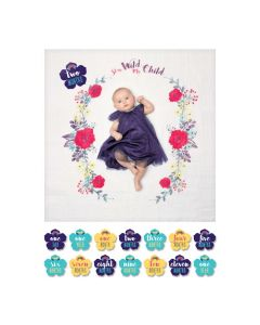 Baby's First Year™ blanket & card set - Stay Wild My Child