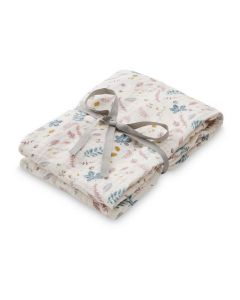 Organic Swaddle - Pressed Leaves, Rose
