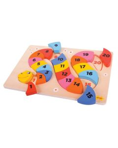 Snake Counting Puzzle