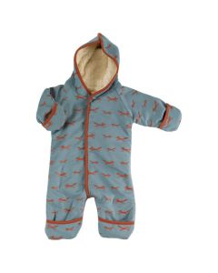Snuggle Suit - Foxes on Blue