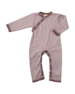 Striped Romper Mocha