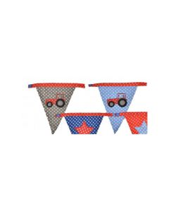 Spotty Bunting Tractor - 1 x Plain End