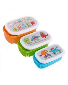 Monsters Snack Boxes 3pce Set