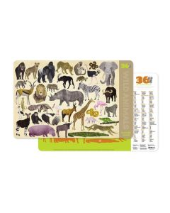 Wild Animals 2 Sided Placemat