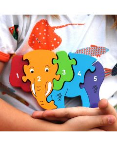 Limited Edition 1-5 Elephant Puzzle