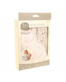 Zippy New Baby Set (Elephant Zip All-in-one, Hat and Muslin)