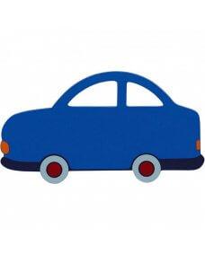 Small Blue Car Plaque