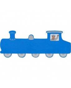 Long Blue Train Plaque