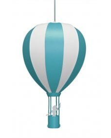 Hot Air Balloon Ceiling Light - Light Blue