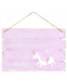 Unicorn Hanging Sign